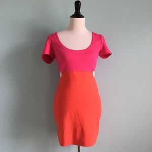 Lucca Couture, Hot Pink/Orange Mini Dress